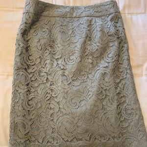 Gray Lace Banana Republic Pencil Skirt